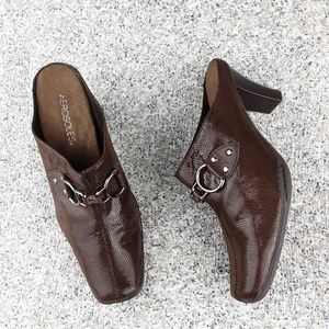 Aerosoles Cinch Worm Brown heeled mules Size 8.5M